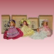 Set of 4 Nancy Ann Storybook Dolls - All in Original Boxes - Excellent Condition!