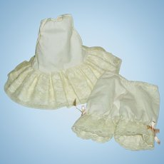 Slip & Bloomers for a Petite Bisque Head Doll