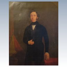 Antique Gentleman Oil Portrait Painting of Francis Egerton first Earl of Ellemere Circa 1820