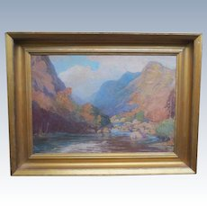 Wonderful Large Fine Vintage Landscape Oil Painting