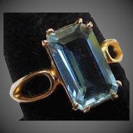 14k Rose Gold Vintage Aquamarine Ring