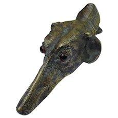 Antique Vienna Bronze Victorian Greyhound Dog Paper Clip