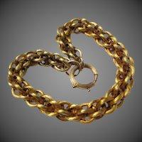 Fine Victorian 14k Gold Etruscan Revival Antique Bracelet