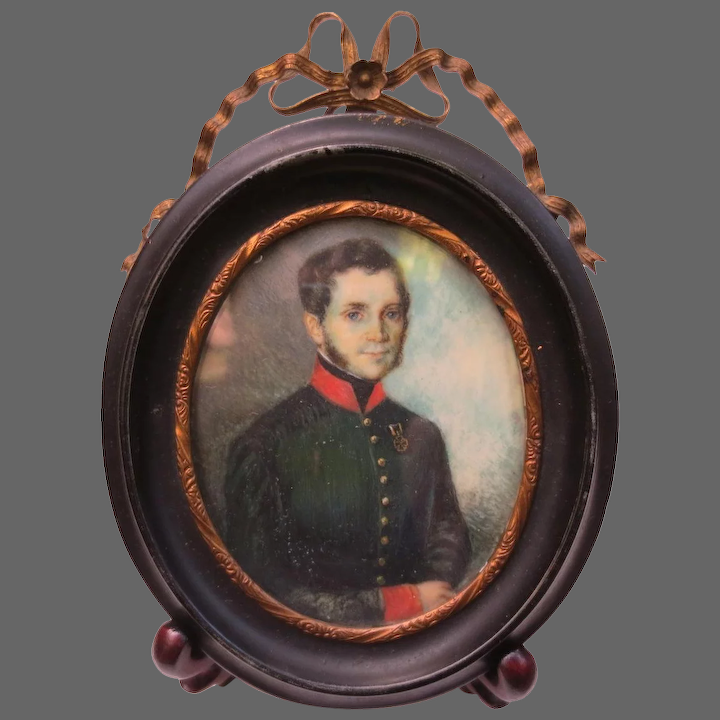 Portrait Painting Of Military Officer