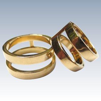 Fabulous Repossi Berbere 18K Gold Ring Bands