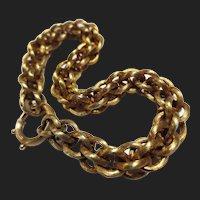 Fine Victorian 14k Gold Bracelet Antique Etruscan Revival