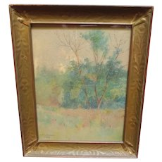 Antique 1899 Lorenzo Palmer Latimer Watercolor Landscape Painting California