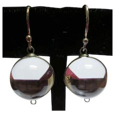 Pools Of Light Quartz Art Deco Vintage Silver Earrings