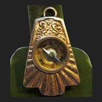 Victorian 14K Gold Compass Watch Chain Fob Pendant
