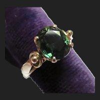 Lovely Green Sapphire 14K Gold Vintage Ring