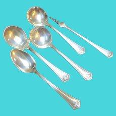 Antique Wallace Carmel Sterling Silver Spoon Set Flatware