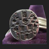 17th Century Silver Jacobean / Caroline Period Fob Seal Family Crest Signet Pendant