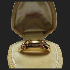 Fine 14K Gold Engagement Band Wedding Ring Granat Bros 1950's