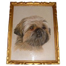 Pastel picture of Lhasa Apso Dog