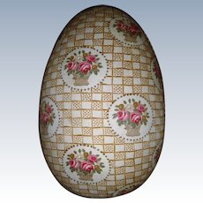 Beautiful fabric covered Easter egg