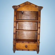 Fabulous faux bamboo armoire for FF doll