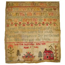 Sampler by Jane Kirk with house