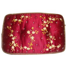 Exquisite large silk pin cushion