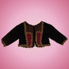 Hand made velvet doll jacket