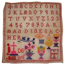 Colorful small alphabet sampler