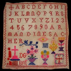 Colorful small alphabet sampler