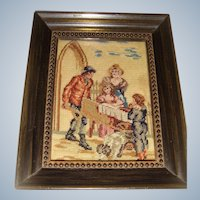 Miniature needle point picture for the dolls house
