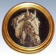 Miniature framed bead work picture of horse head