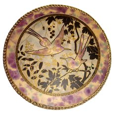 Old circular Rowntree's chocolate box with swallows