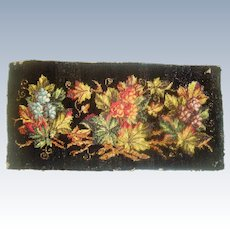 Exceptionally pretty piece of antique bead work of flowers