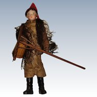 Francois Gaultier male fisherman bisque shoulder plate doll