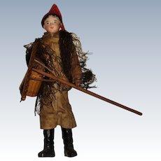 Francois Gaultier male fisherman bisque shoulder plate doll