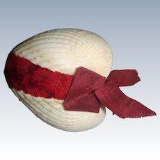 Victorian shell pin cushion