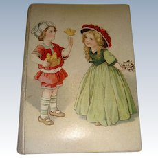 Charming Henry Wilkes needle case with children unused