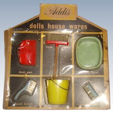 Boxed Addis dolls house wares all original