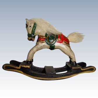 Delightful hand painted miniature rocking horse