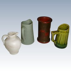 Collection of useful pottery for dolls house