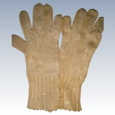 Miniature silk gloves fo large doll