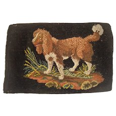 Berlin needlework  of a Spaniel dog