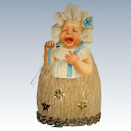 Crepe paper cutest ever Christmas baby decoration