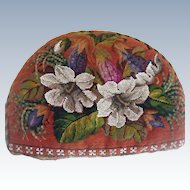 Beautiful antique bead work tea cosy with flowers