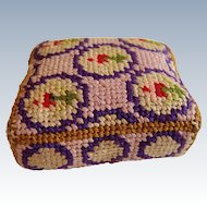 Beautiful silk embroidered pin cushion for dolls house