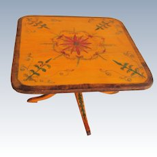 Charming hand painted table for the dolls house