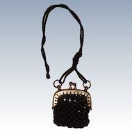 Tiny antique bag for FF doll