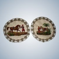 Beautiful needlework samplers of Eastern Horsemen