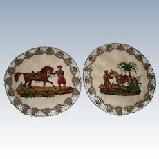 Beautiful needlework samplers of Eastern Horsemen