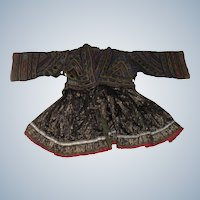 Hand made Tibetan childs dress for large doll or bear