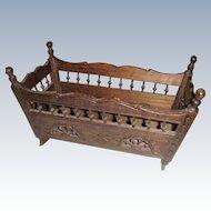 Breton rocking crib for doll or bear