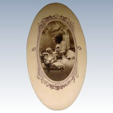 Delightful oval French baby gift box