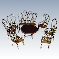 Set of beaded furniture with Dresden paper