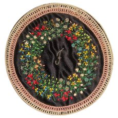 Beautiful circular embroidered and bead work needle case